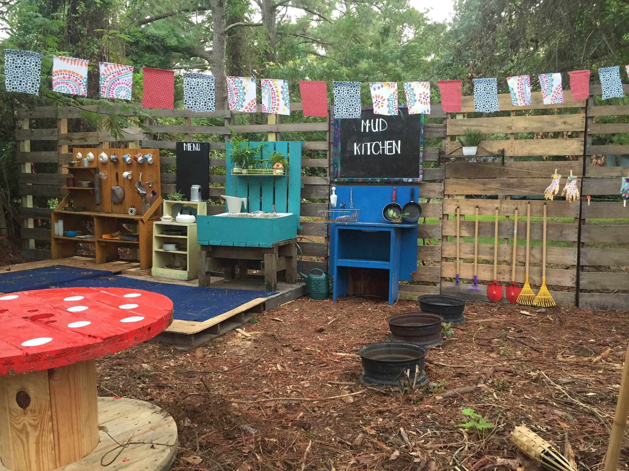 Mud Kitchen constructed by the Shanks family at Wilmington Cooperative School