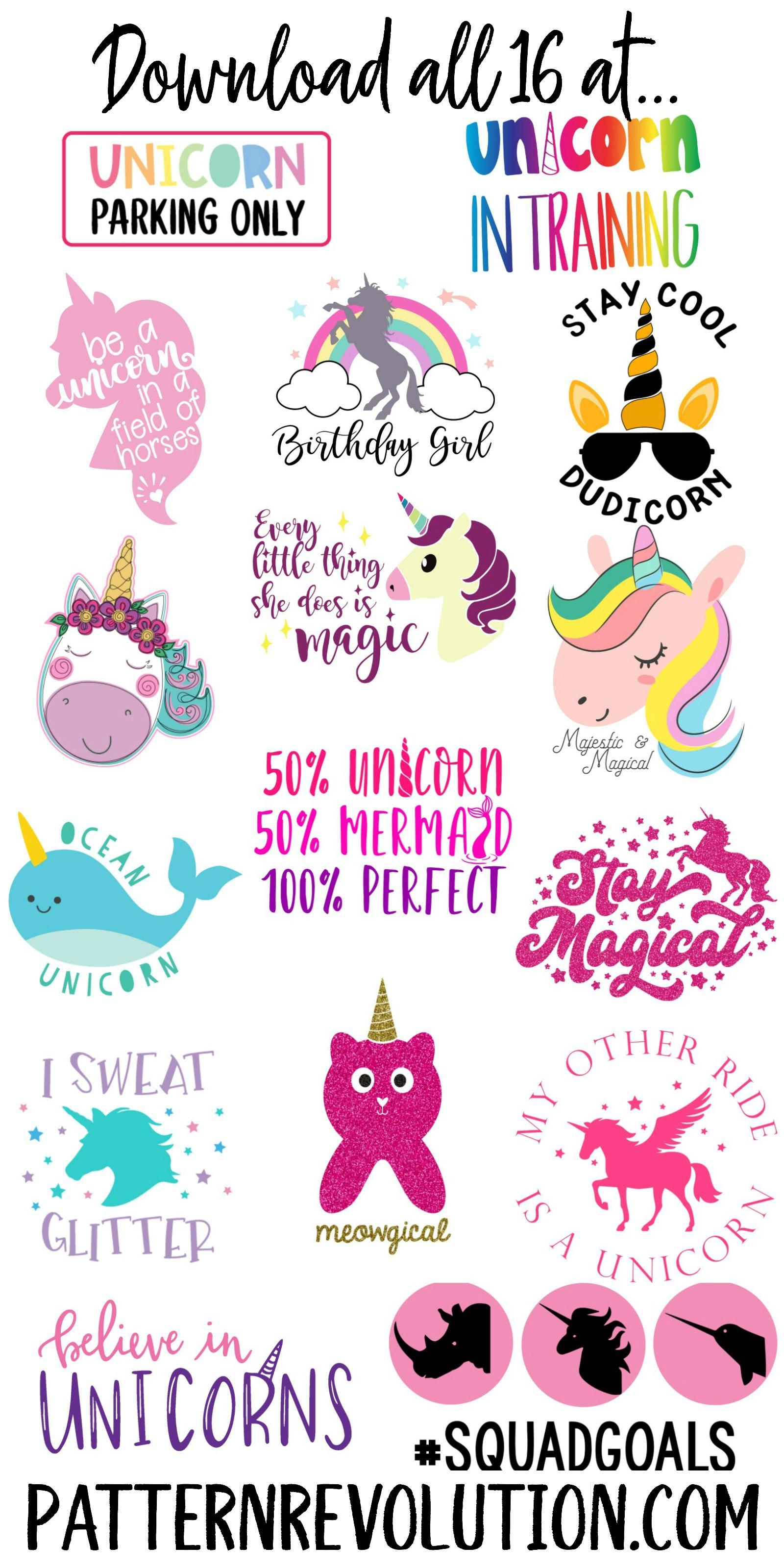 Free Unicorn Svg And Blog Hop Pattern Revolution