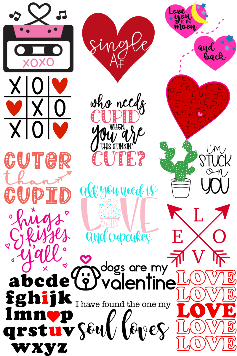 Love You To The Moon And Back Valentines Svg File Pattern Revolution