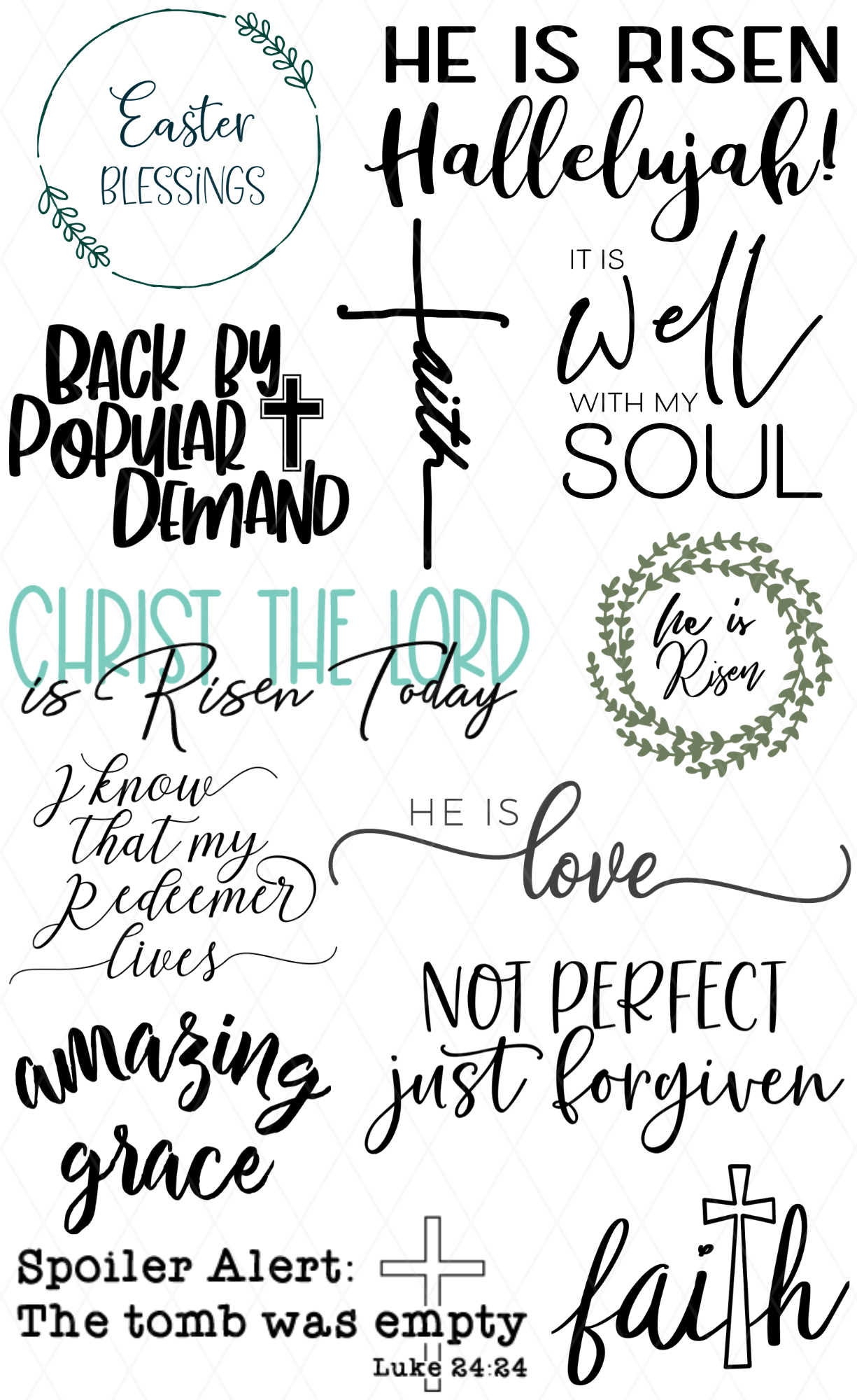 Free Easter Svg Faith And Cross Pattern Revolution