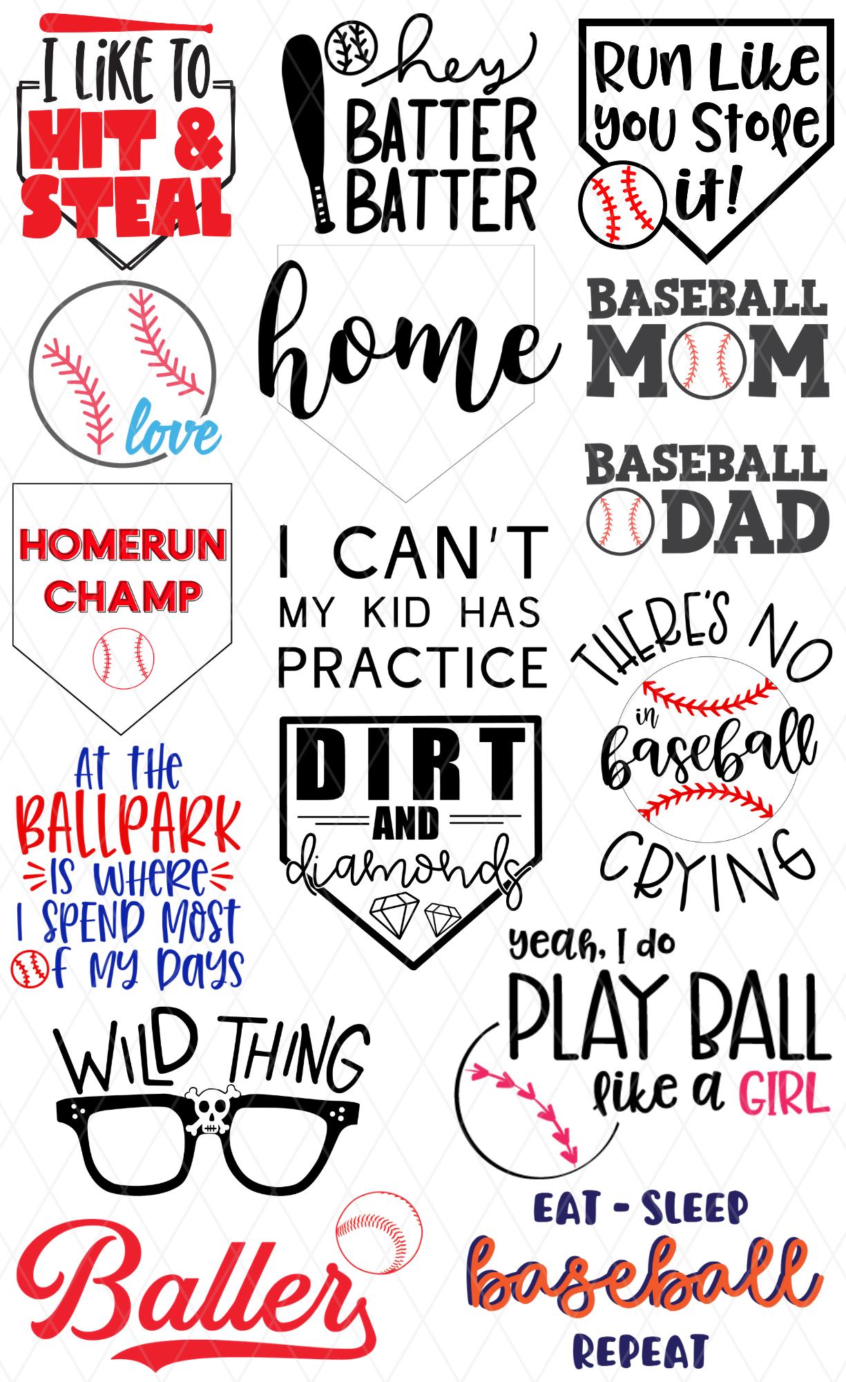 My Kid Has Practice Free Baseball Softball Svg Pattern Revolution
