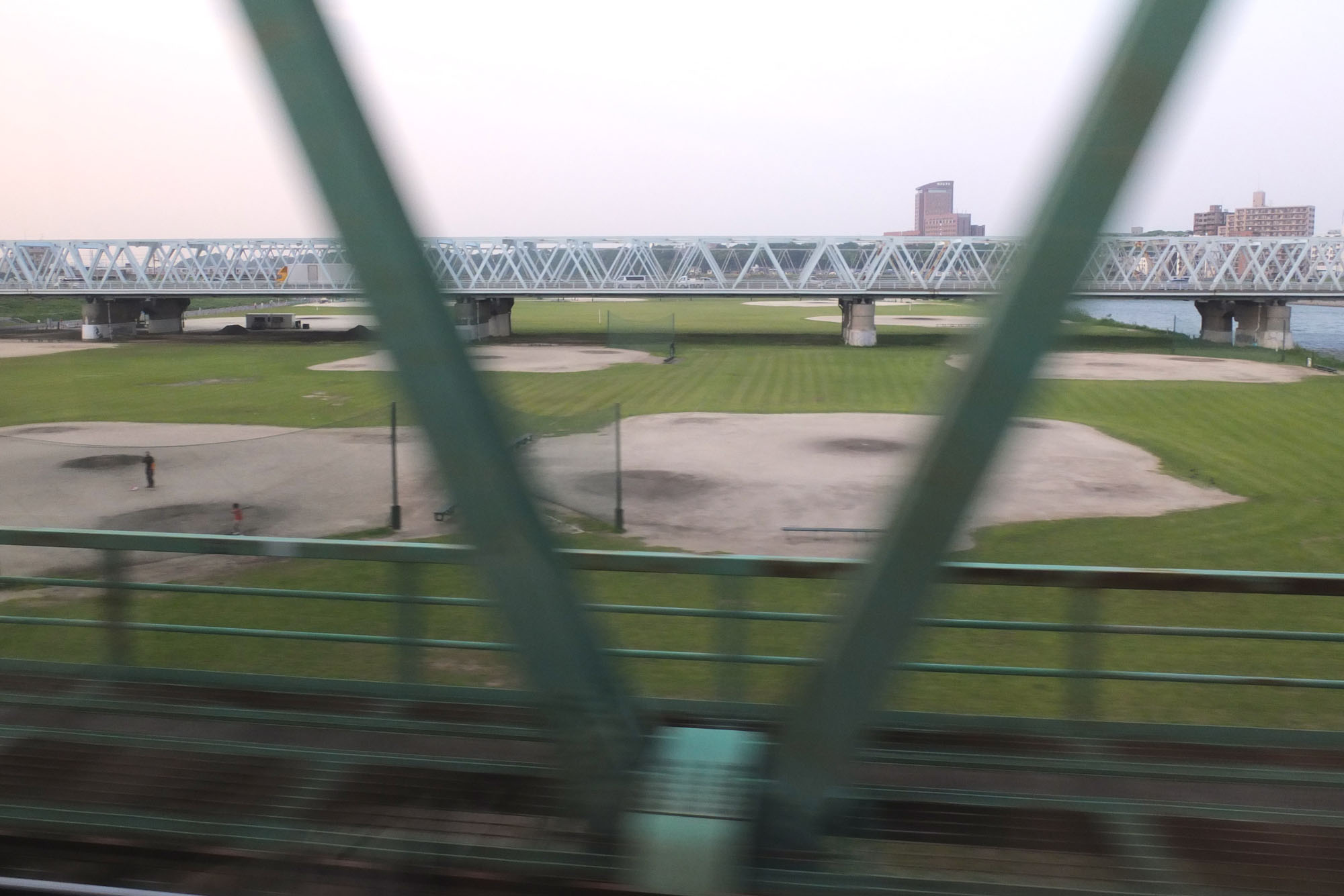 Baseball is very popular. We passed by a lot of fields on the train to Tokyo.