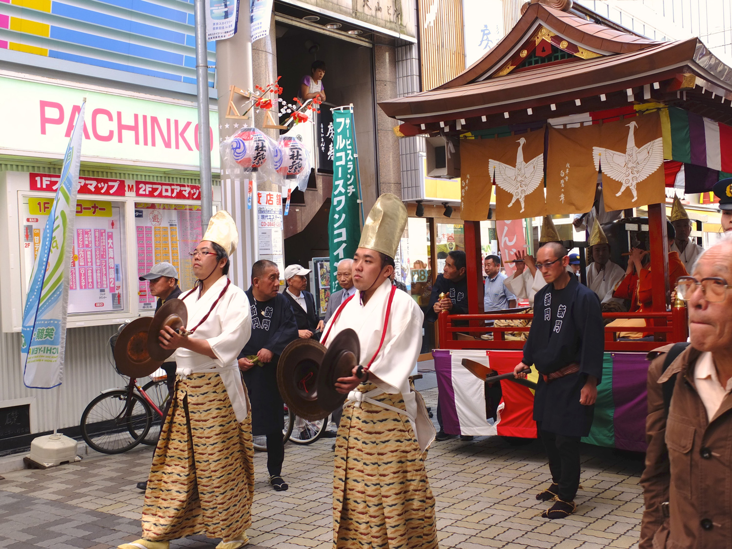 In Asakusa we stumbled upon a large festival we had no idea was going on.