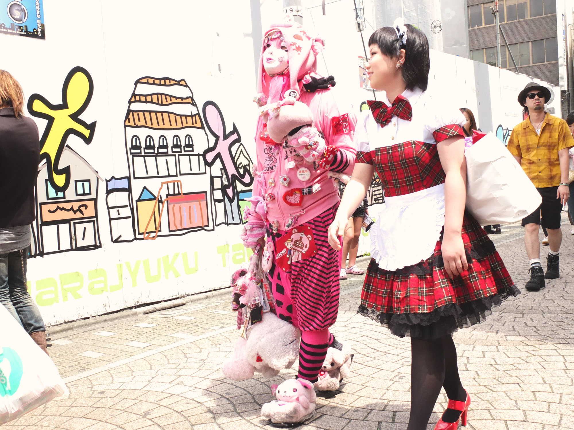 Takeshita street in Harajuku. Take a stroll through on a Sunday and you will see a lot of interesting people.