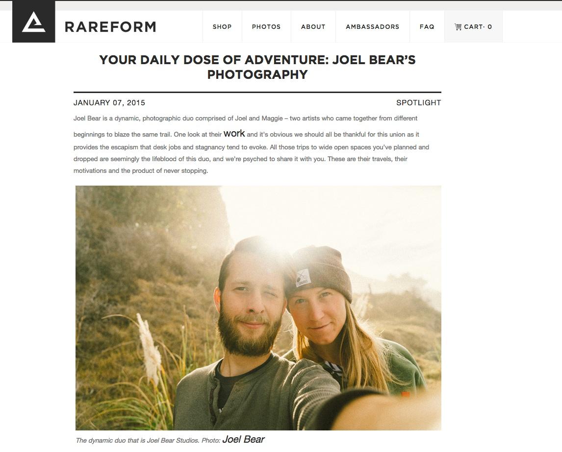 Joel Bear - Rareform