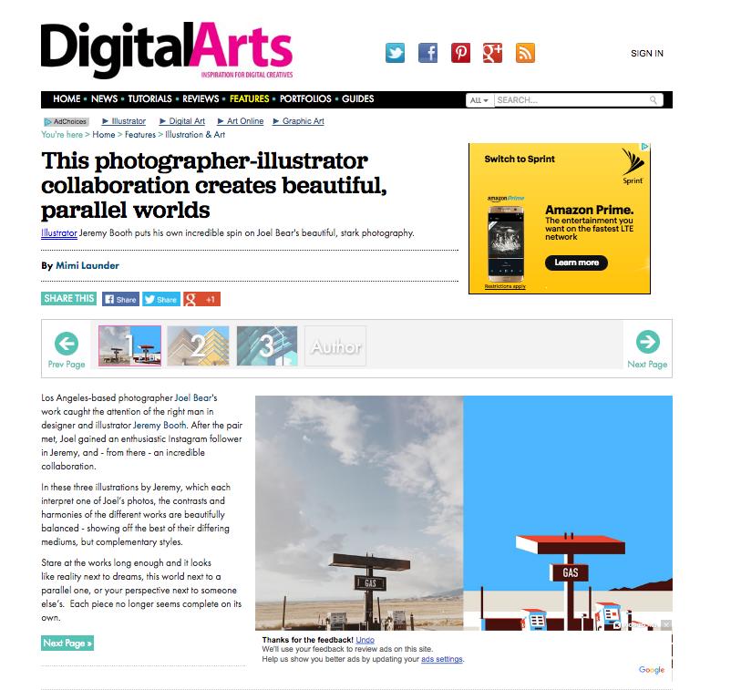 Digital Arts: Joel Bear & Jeremey Booth Collaberation