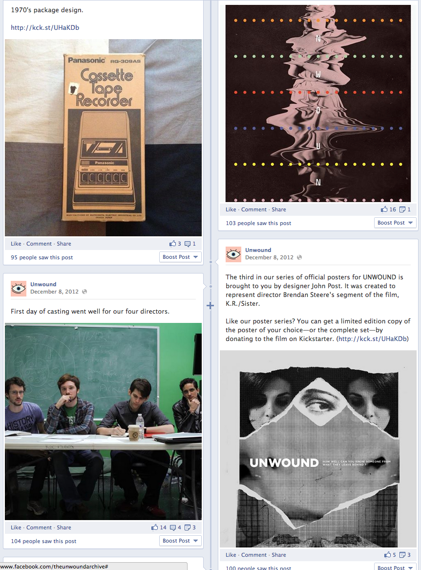 Thanks to extensive marketing to social platforms, Unwound was successfully funded on Kickstarter.