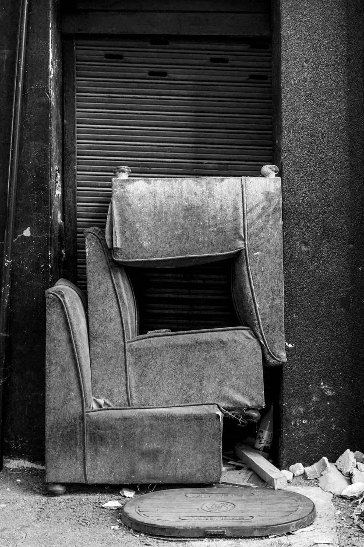 Chairs in a doorway in Yang-dong market, near downtown Gwangju.