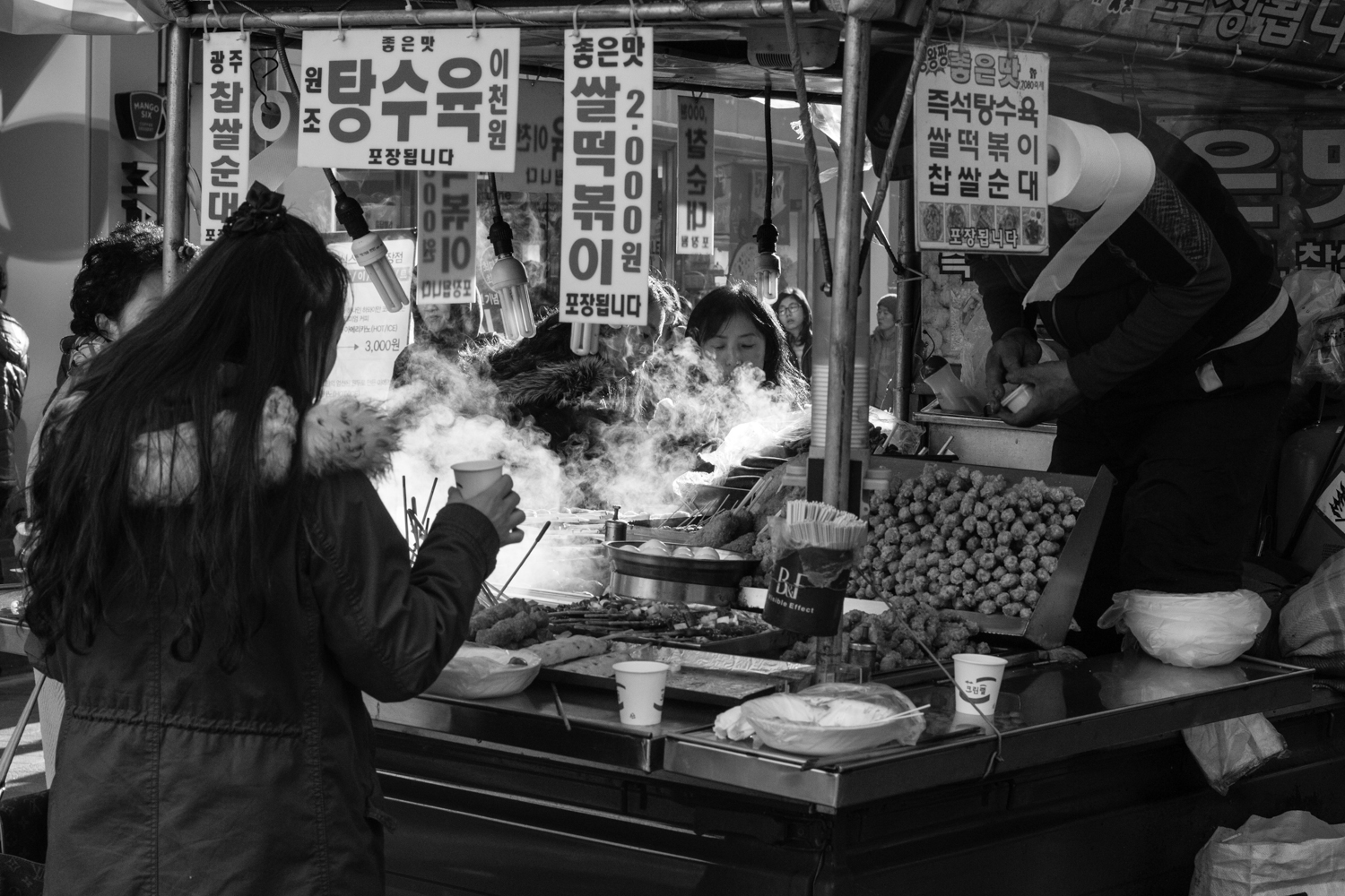 I cheated, I actually took this picture my first weekend in Gwangju, but this is where I ate Odeng.