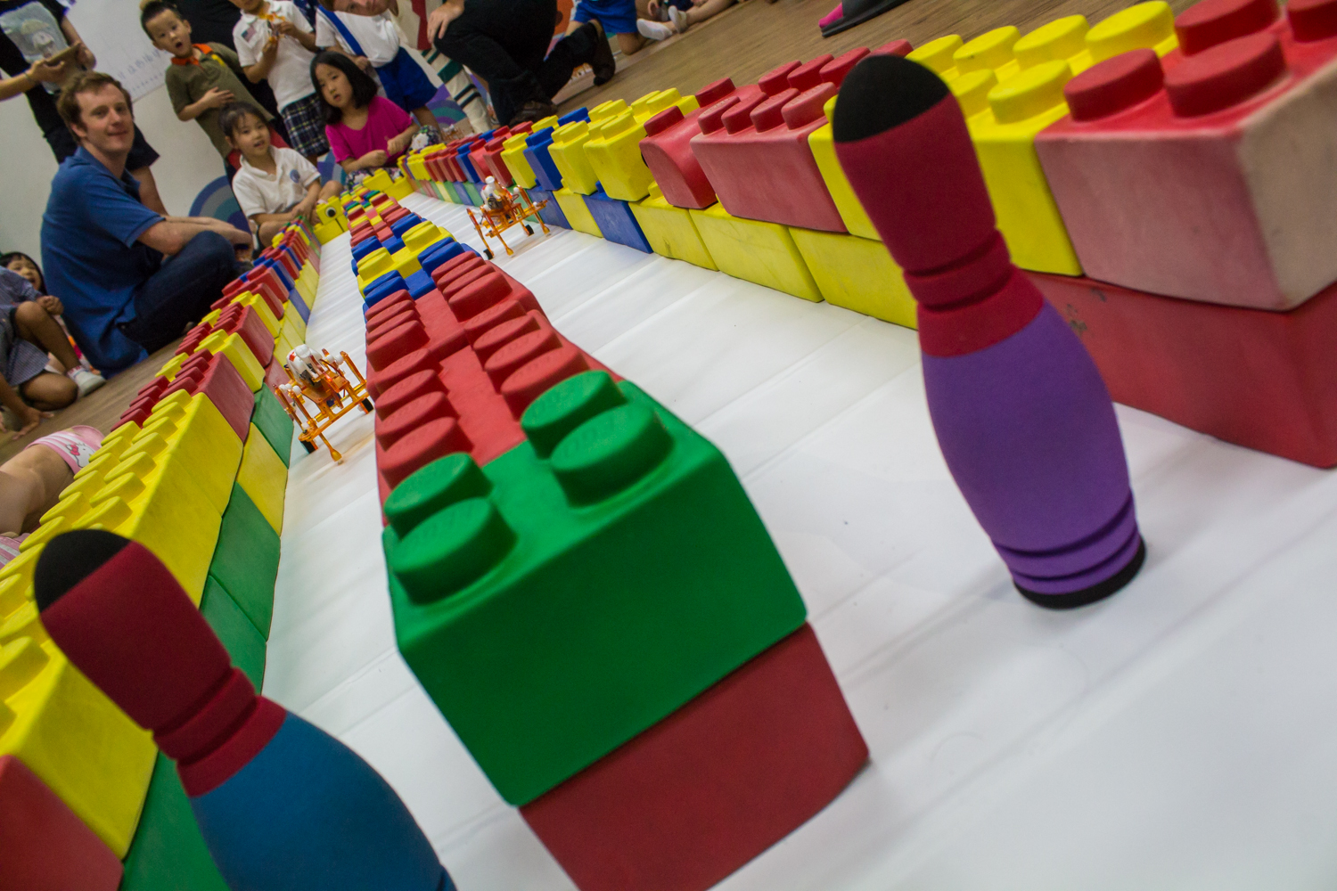 Robot races at POLY.