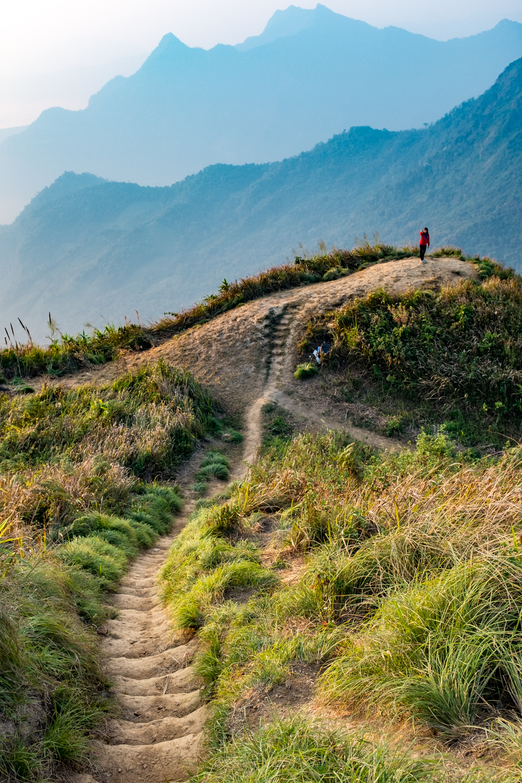 Phu Chi Fa Mountain on the border of Laos.