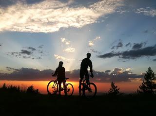 Tuesday's sunset = inspiration lived. Bogus Basin.  Photo: Hilary Oliver