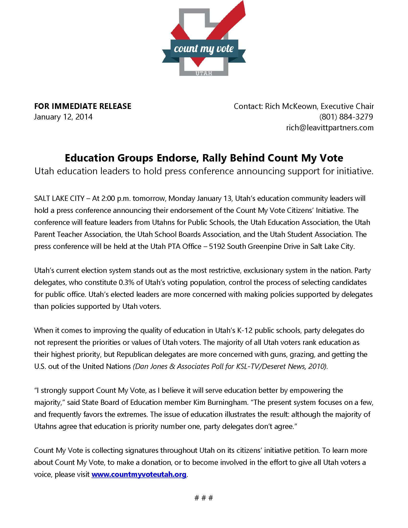 Education Community Endorses, Rallies Behind Count My Vote.jpg