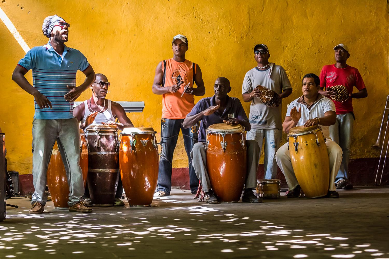 Afro Cuban music at the Palenque de los Congos Reales, Trinidad, Cuba