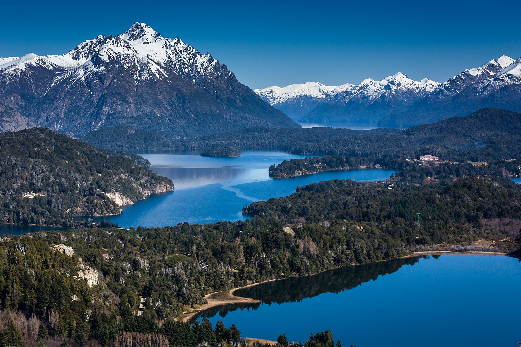 Bariloche and the Andes Mountains in Nahuel Huapi National Park, Argentina