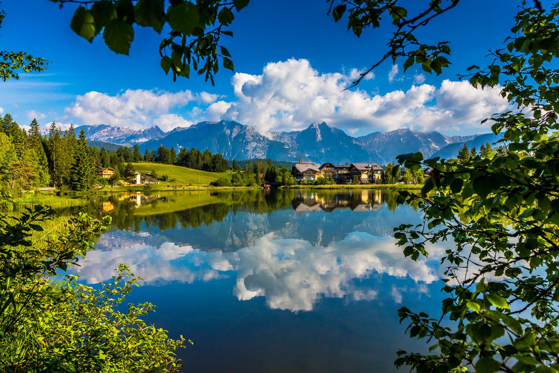 Lake Wildsee, Seefeld, Austria.