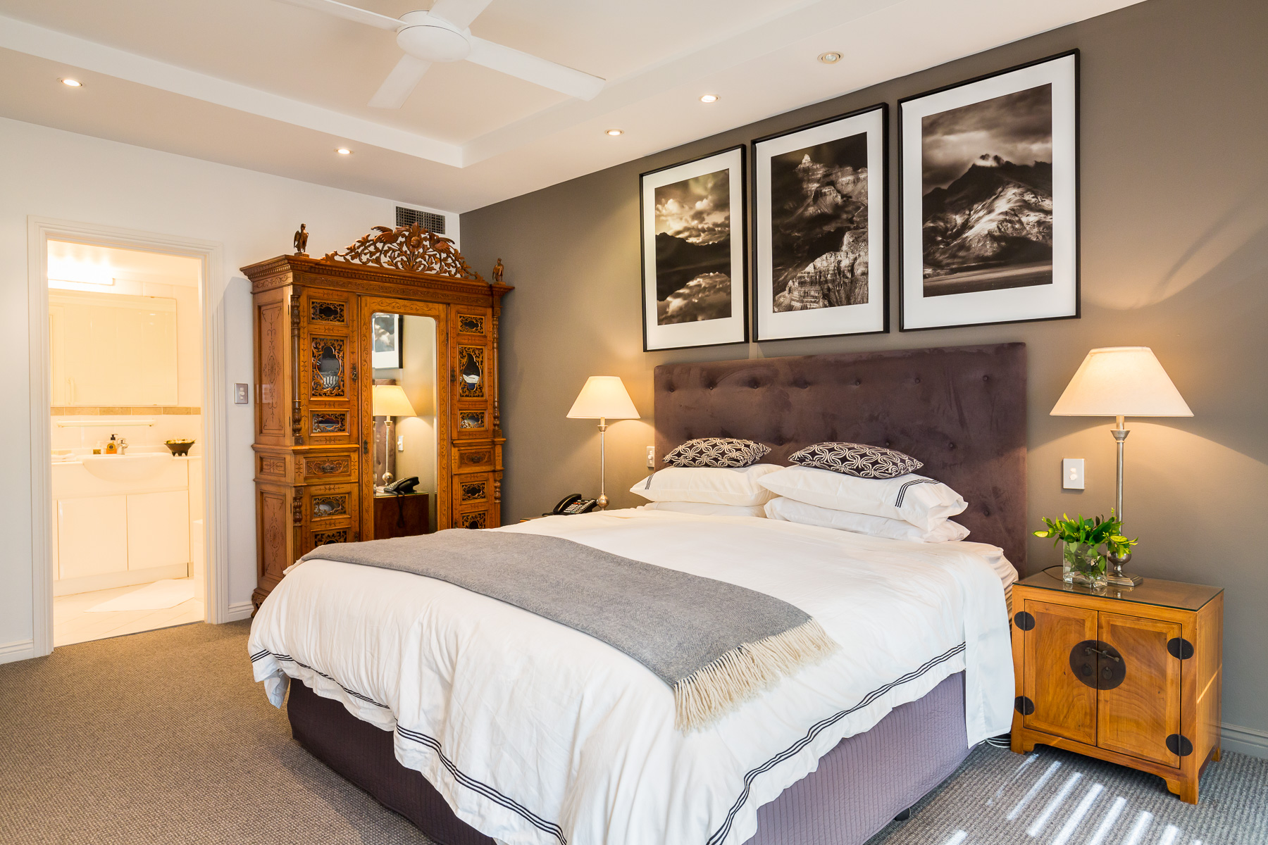 Master bedroom and ensuite.