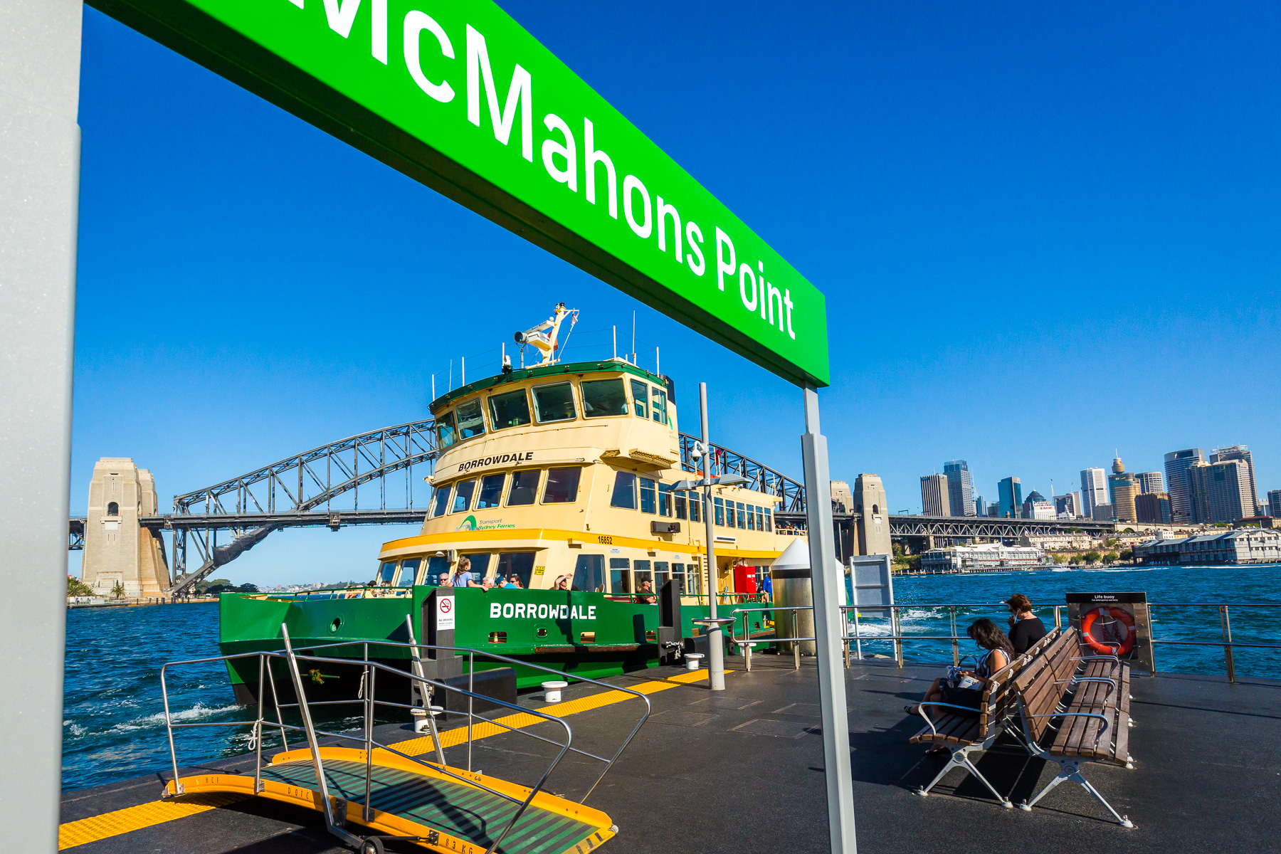 McMahons Point ferry wharf - 8 minutes walk away from our home.