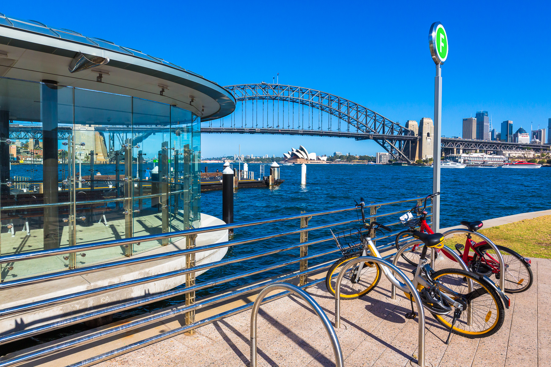McMahons Point ferry wharf 8 minutes walk away from our home.