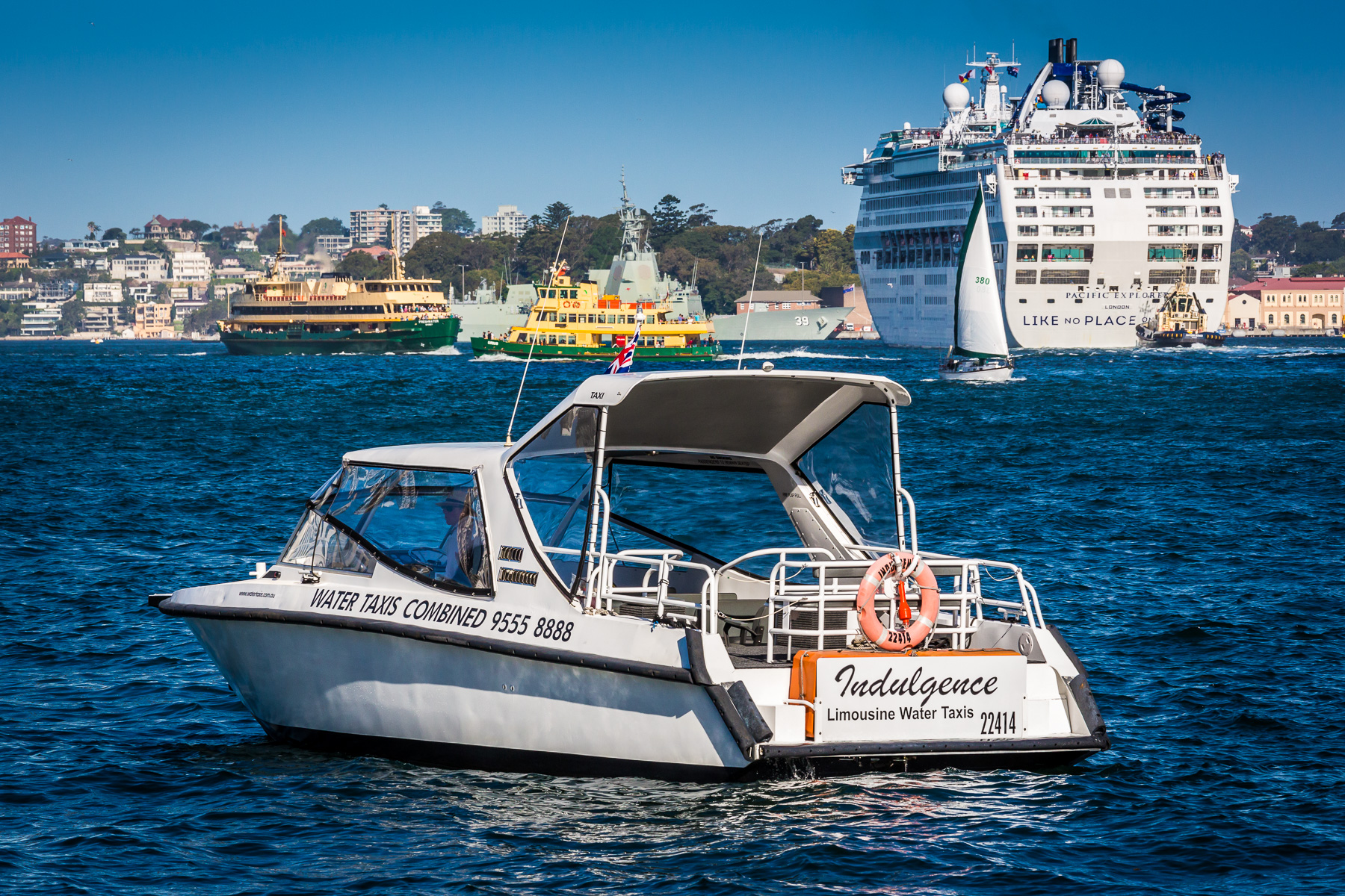 Water taxi on Sydney Harbour.