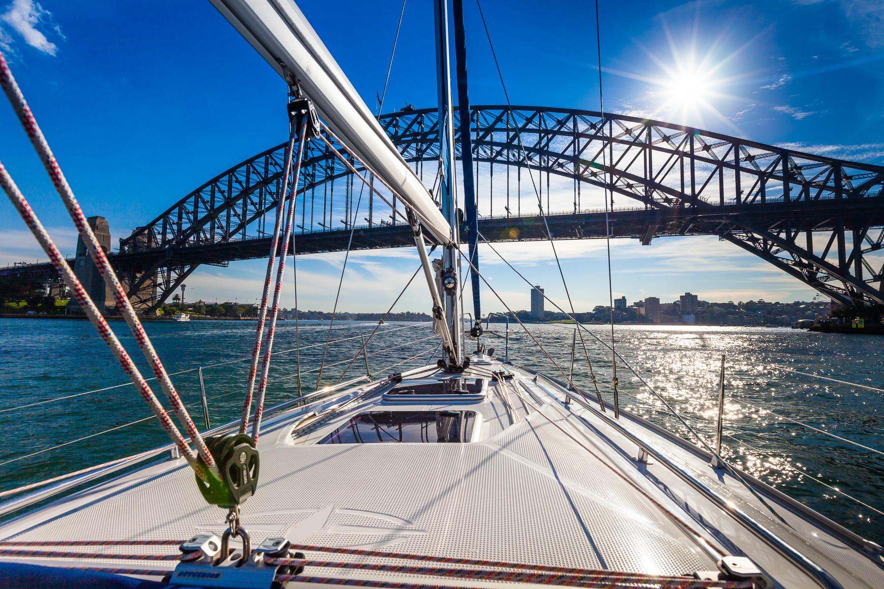Sailing on Sydney Harbour.