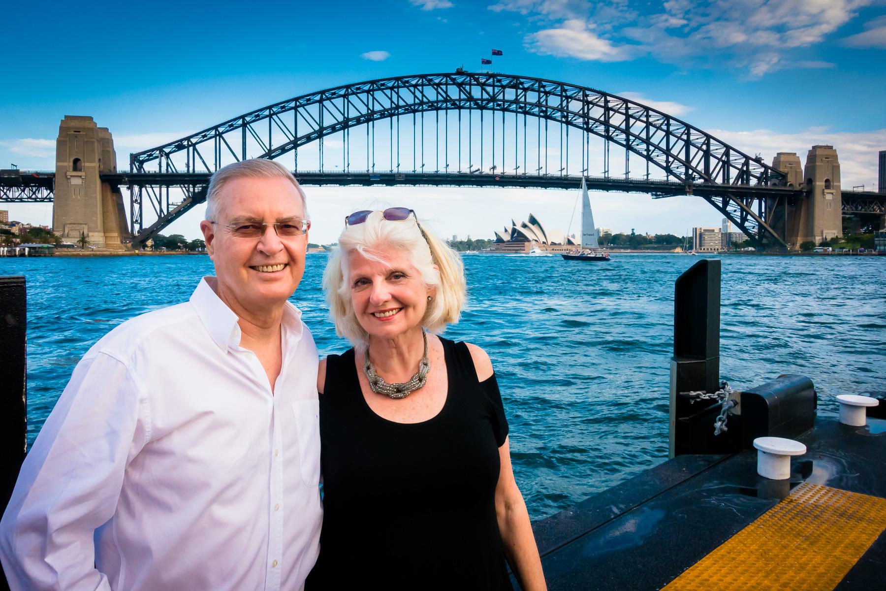 Ian & Elizabeth at McMahons Point Ferry Wharf.
