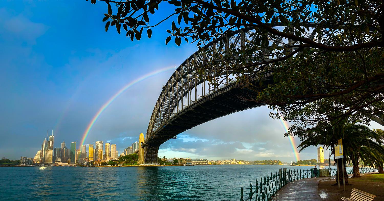 Rainbow over the Sydney Harbour Bridge
