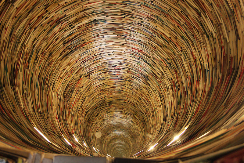 Flickr credit: Book tower interior, Prague Municipal Library by Graham Dash