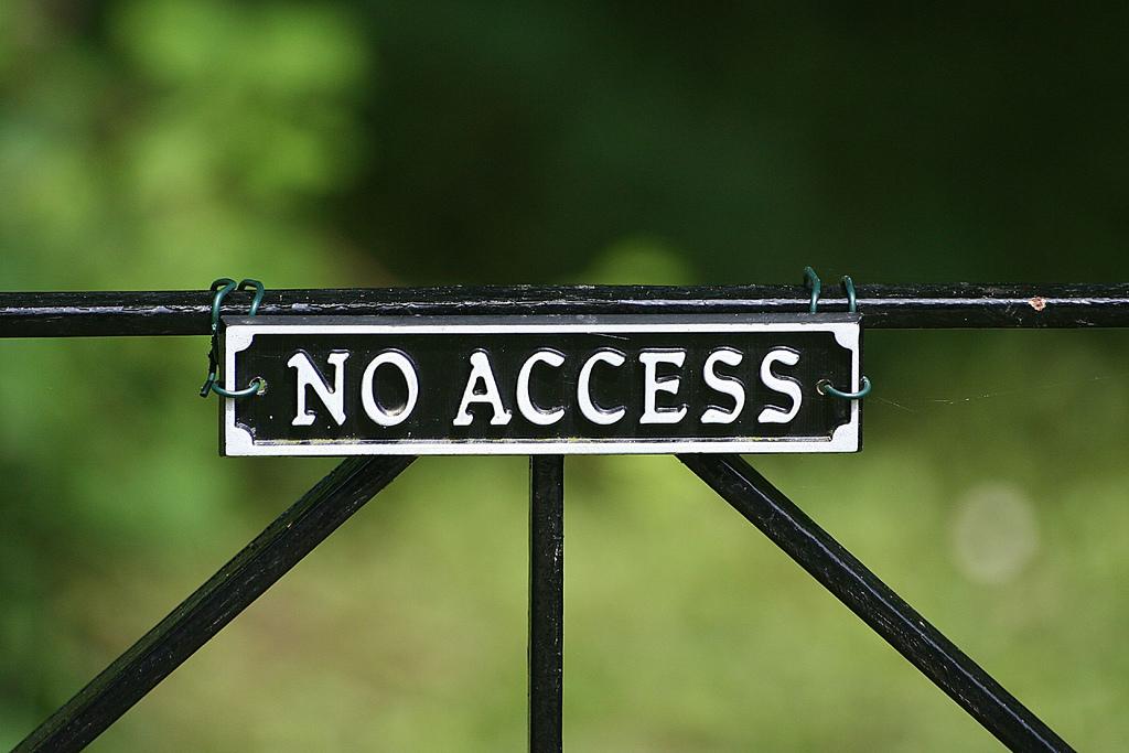 Flickr credit: No Access by Bob Shand