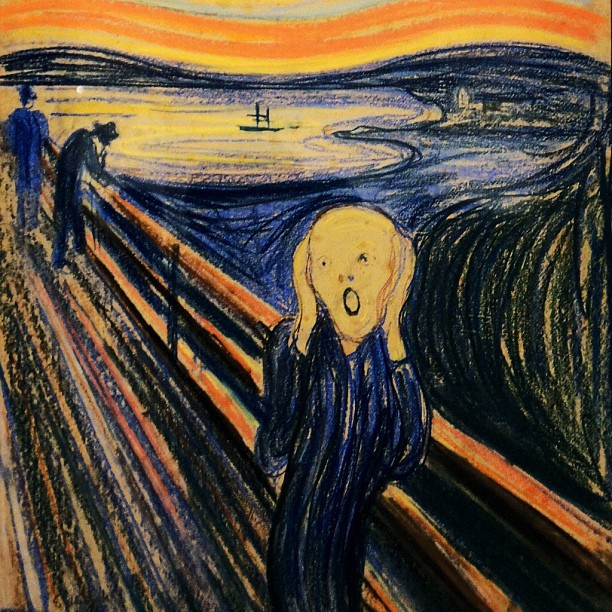 Com a licença do  Museum of Modern Art  (MoMA): The Scream by Edvard Munch