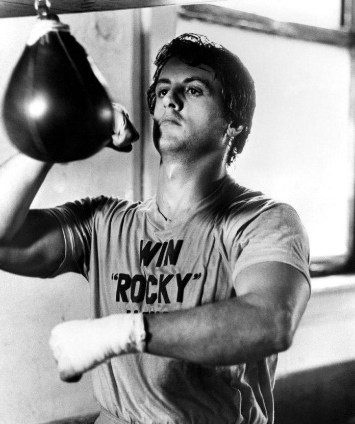 Sylvester Stallone  em Rocky (1976)