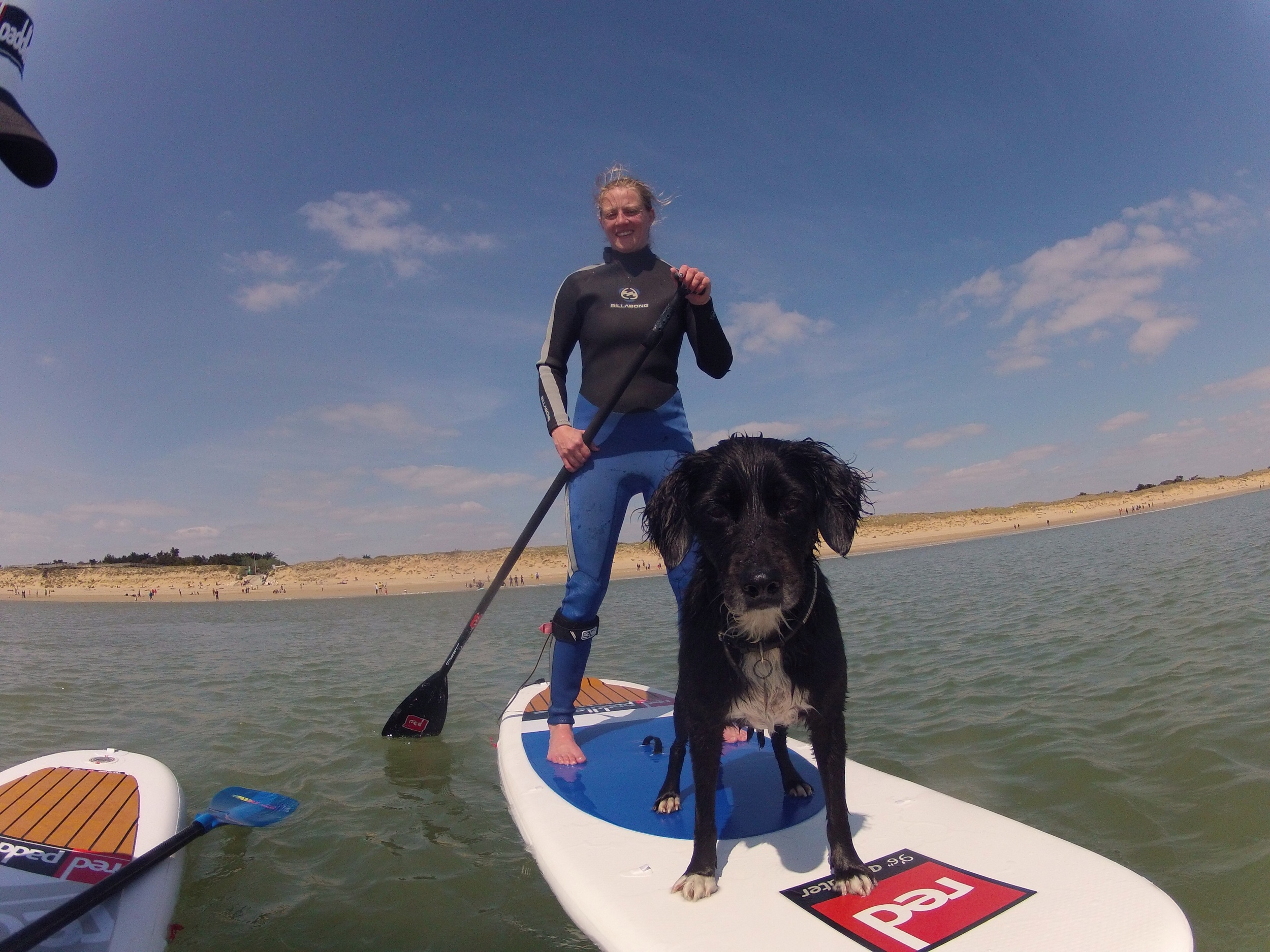 Red Paddle 9'6 All water avec Dengo, le chien