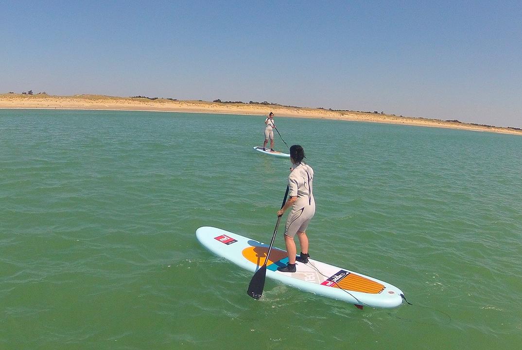 Cécile en action plage des gollandières chez papaï paddle 17/05/14verte