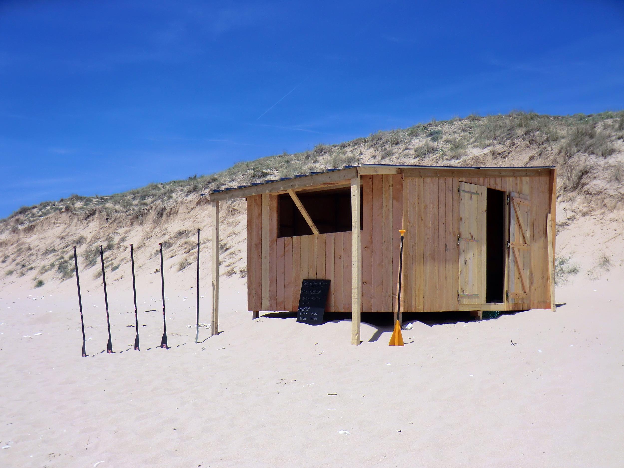 Photo de la Cabane Papaï Paddle, plage des Gollandières au Bois Plage