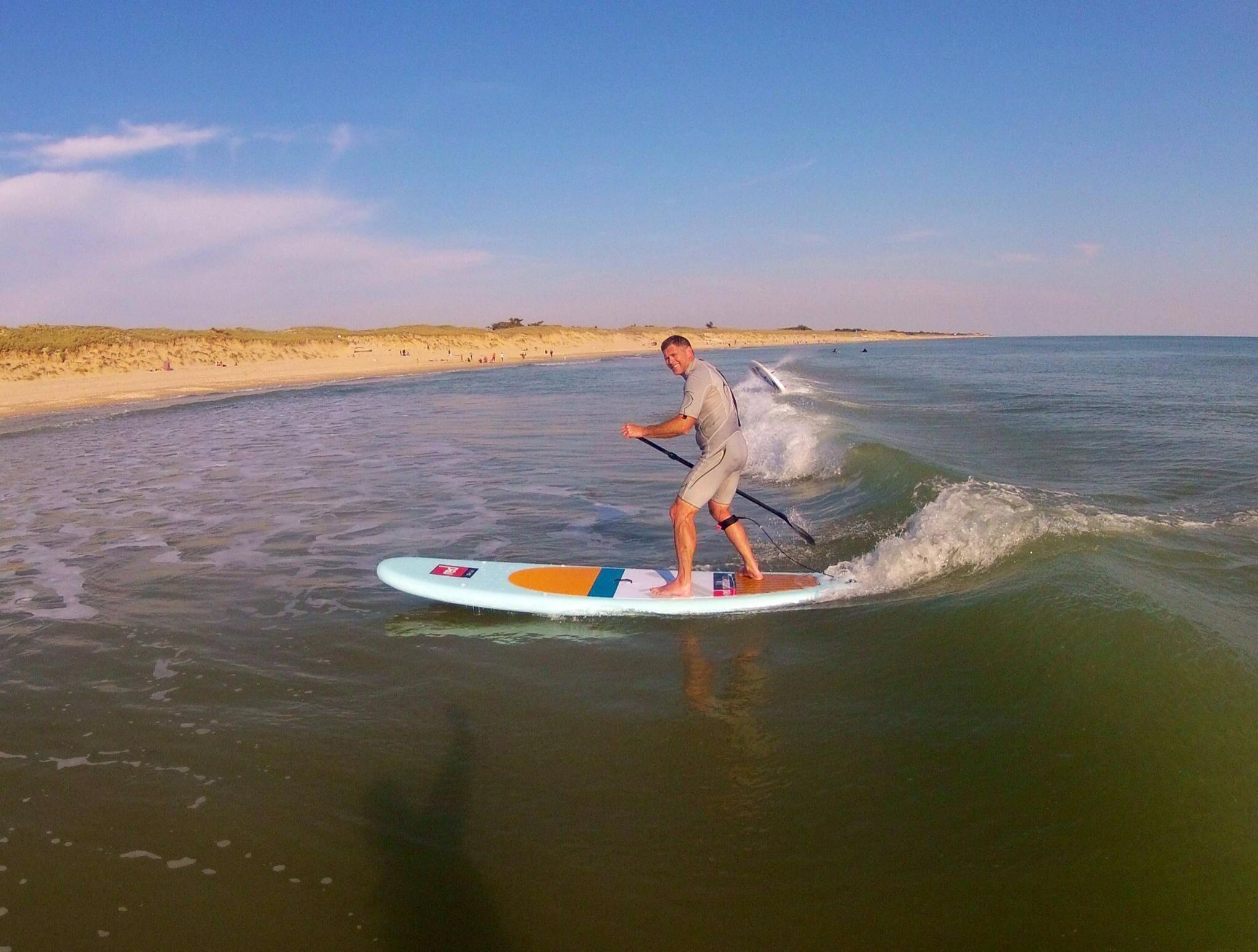 SUP Surfing aux Gollandières.