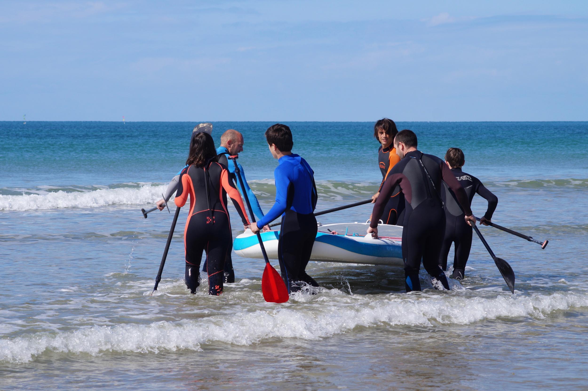 Mise à l'eau plage des Gollandières au Bois Plage