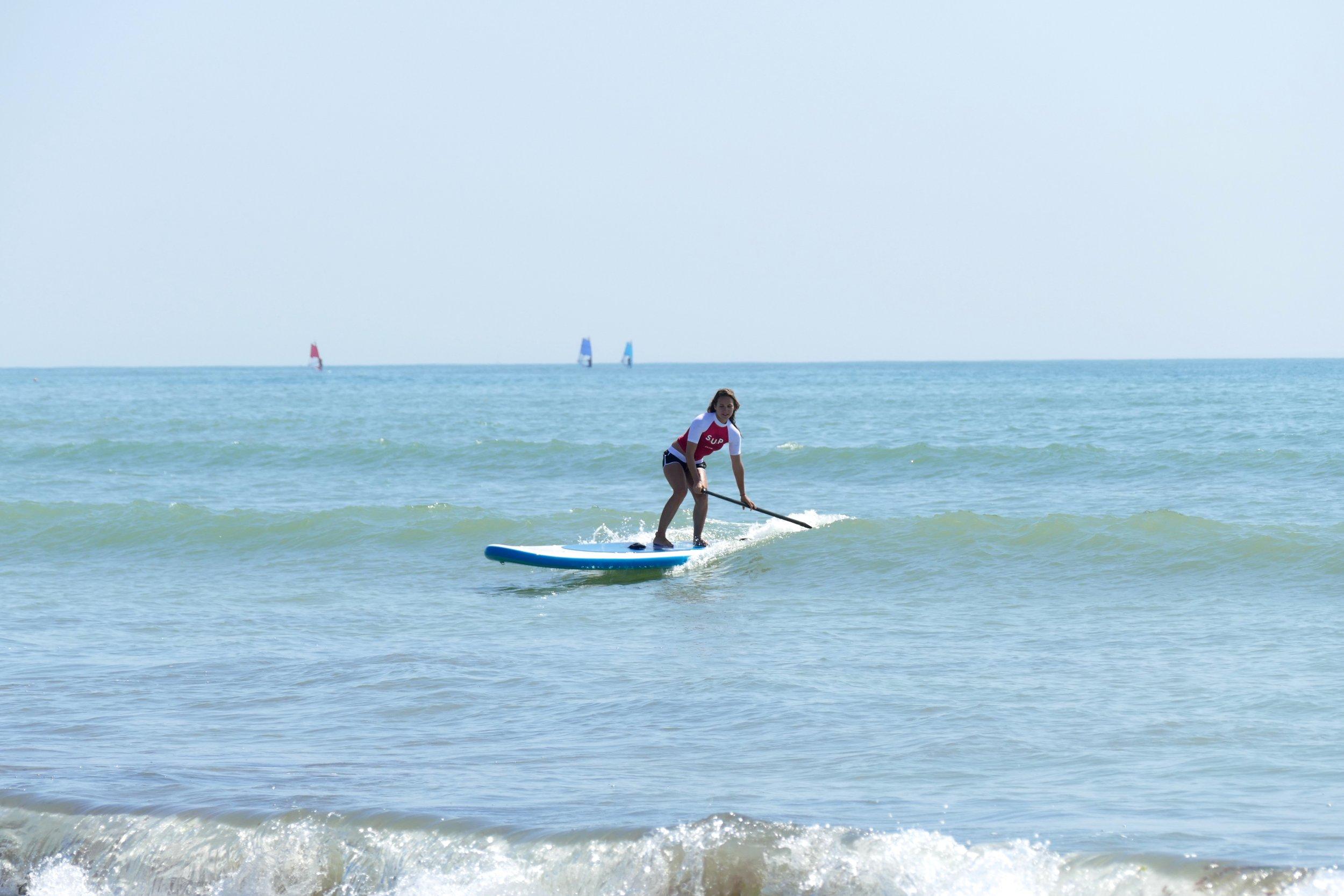 SUP Surfing aux Gollandières - Lycra et Short Oxbow