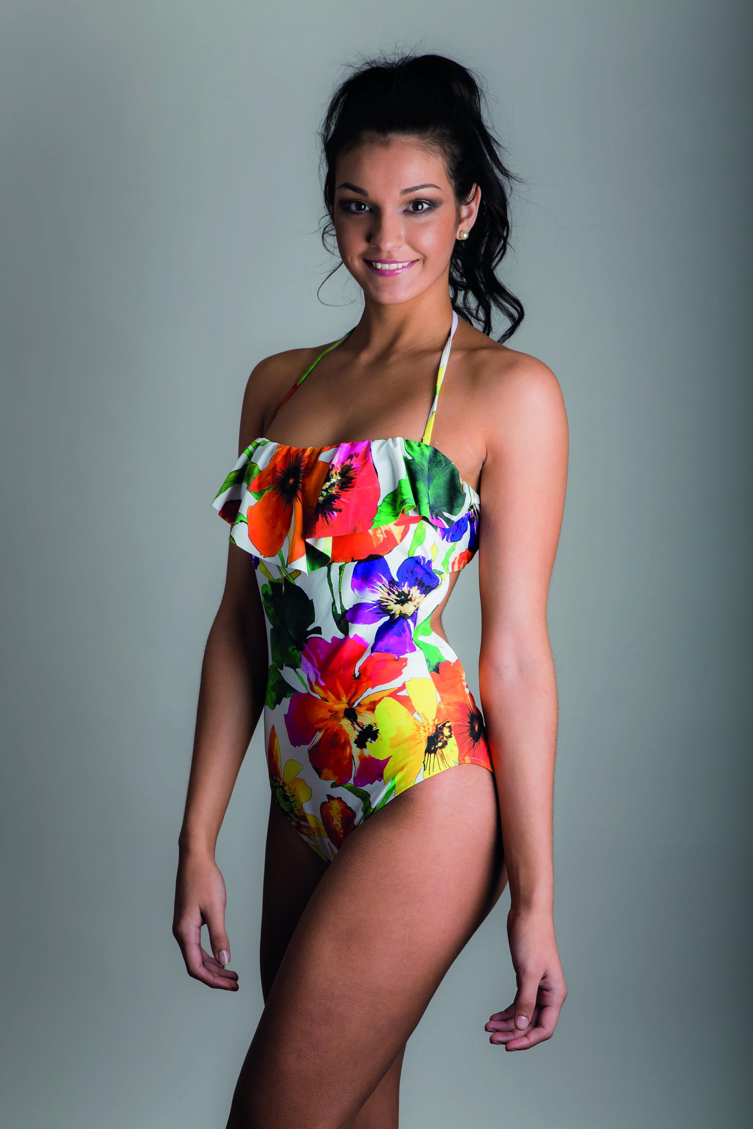 Danielle Sandhu wears Spring Summer 2014 Ralph Lauren swimwear for Robinsons of Bawtry