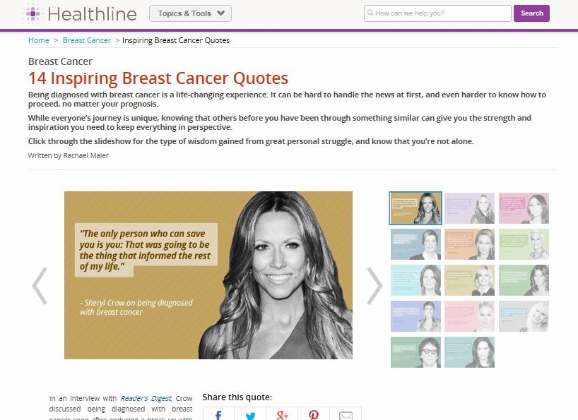 Inspirational Celeb Breast Cancer Quotes