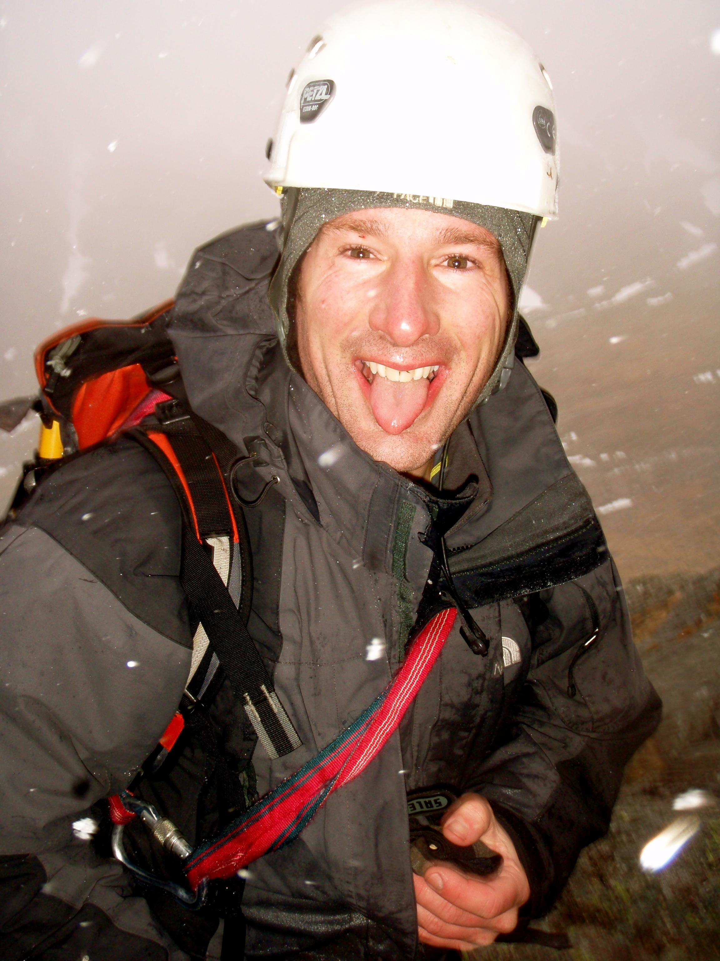 Chris Hare enjoying a Scottish Winter