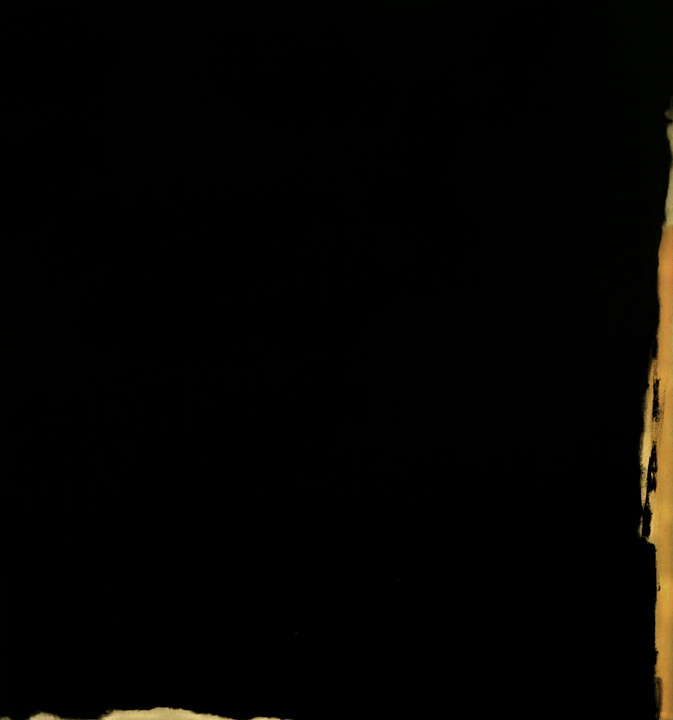 Negro 3, oleo sobre lienzo, 160x150cms