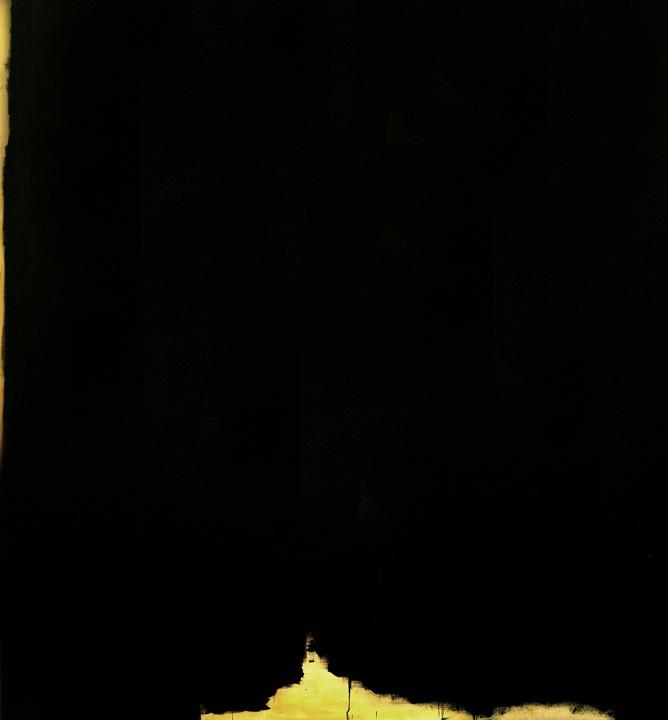 Negro 1, oleo sobre lienzo, 160x150cms