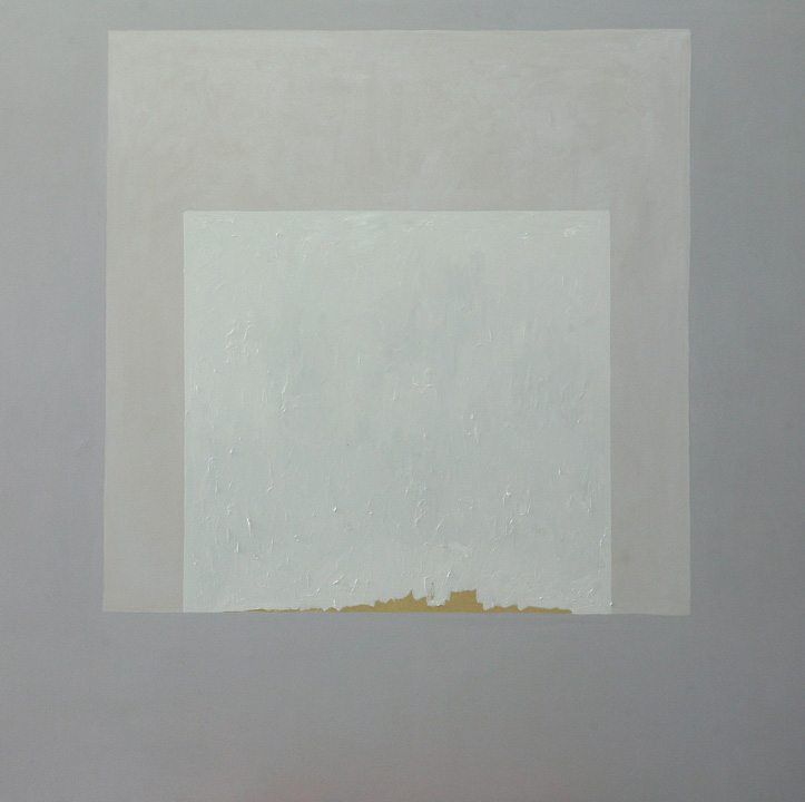 Forma Blanca, oleo sobre lienzo, 140x140cms