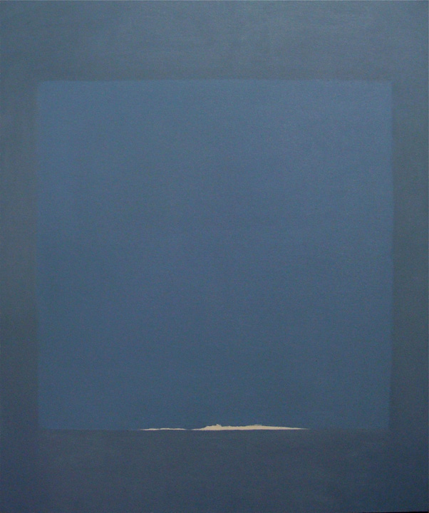 Cuadrado Azul, oleo sobre lienzo,120x100cms