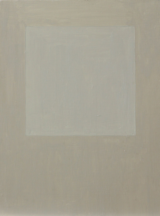 Cuadrado Imperfecto 1B, oleo sobre panel, 40x30cms