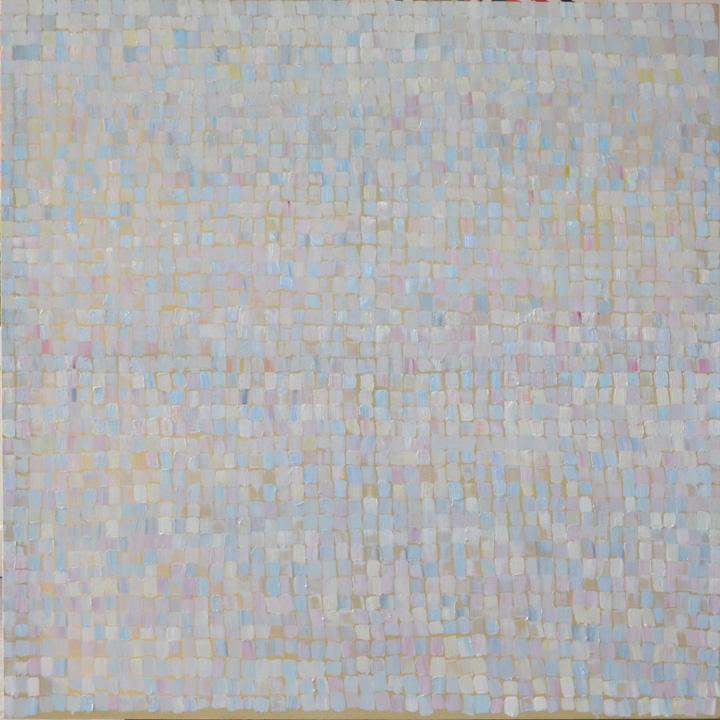2438 pinceladas, oleo sobre lienzo, 140x140cms