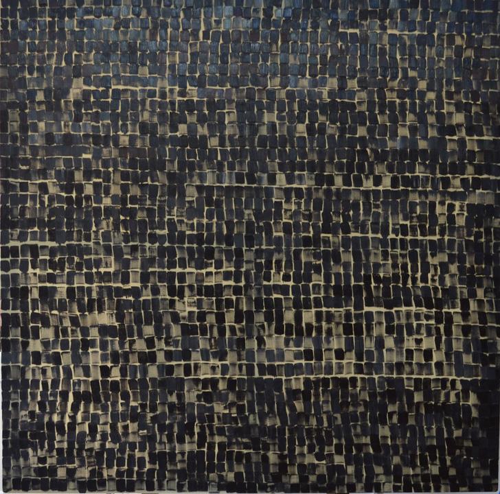 2226 pinceladas, oleo sobre lienzo, 140x140cms