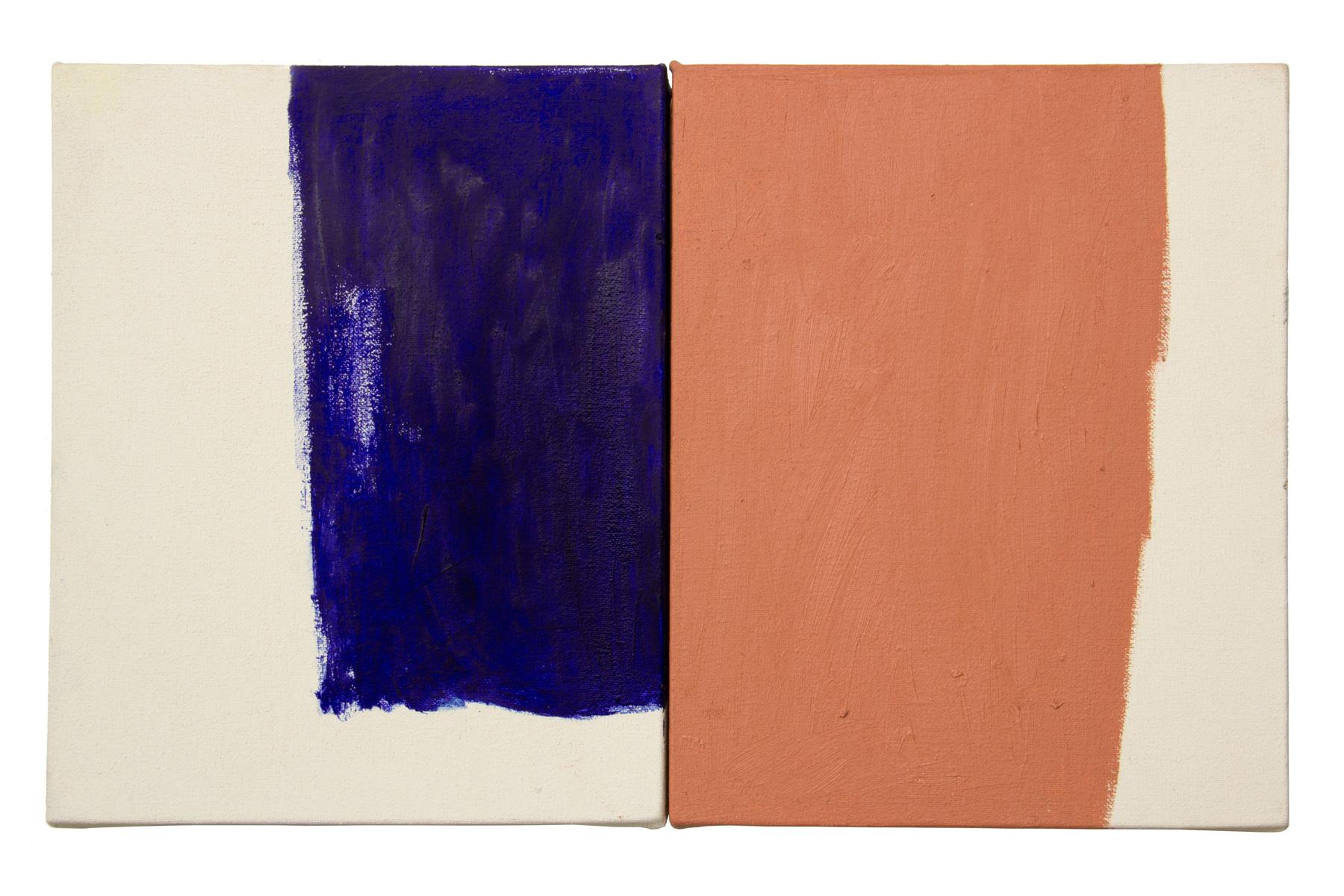 Dialogo 8, oleo sobre lienzo, 25 x 40 cms