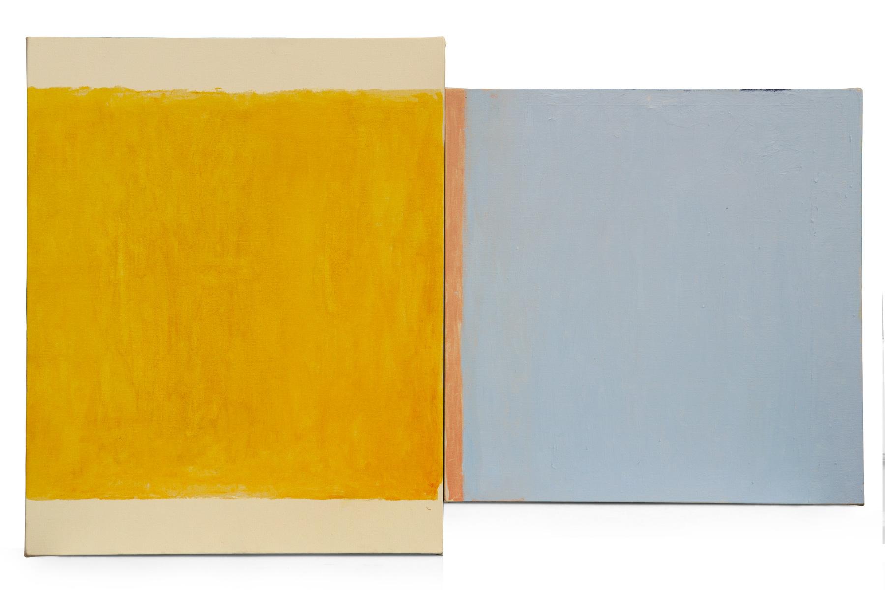 Dialogo 9, oleo sobre lienzo, 50 x 80 cms