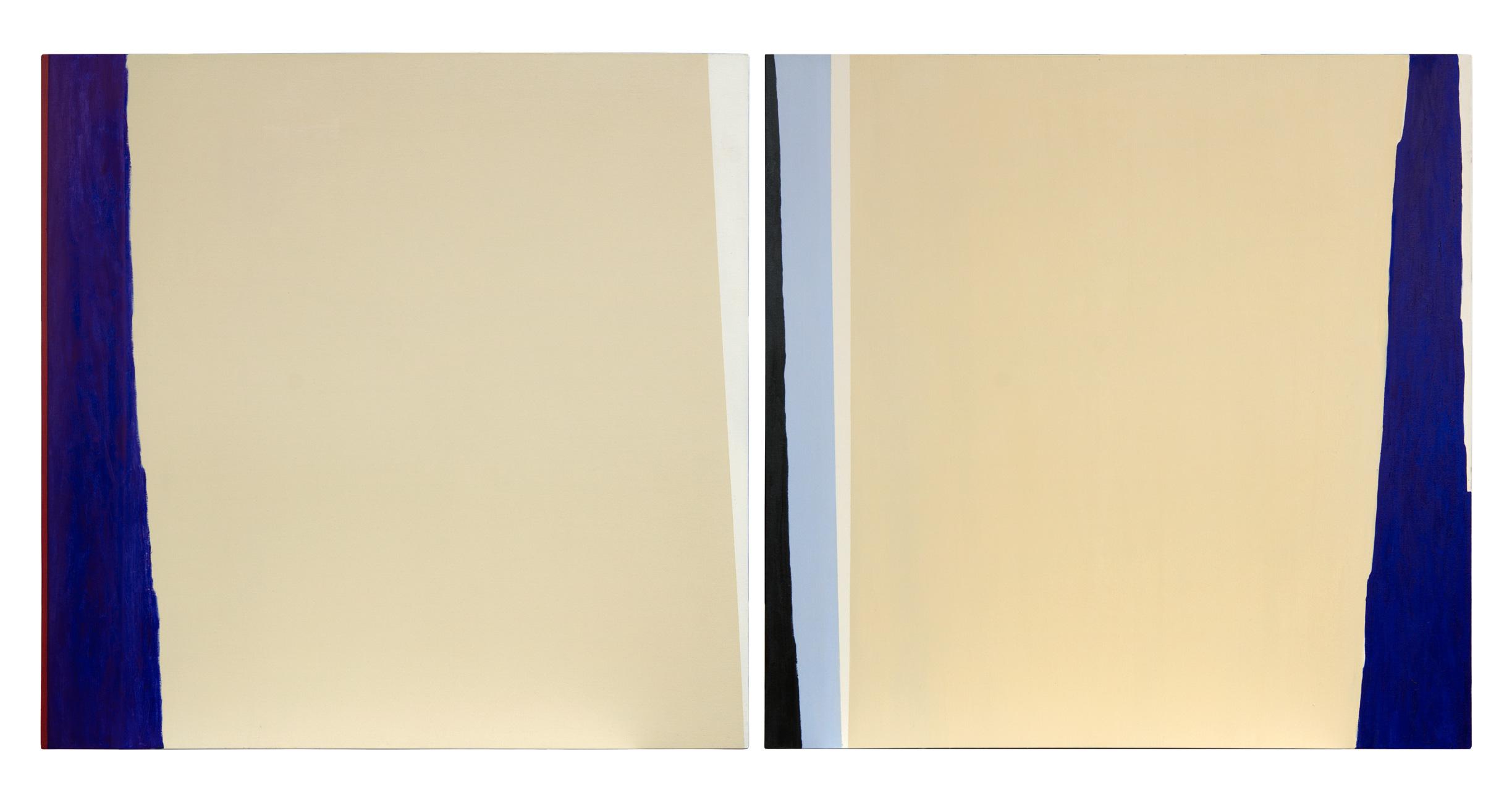 Intervencion 5, oleo sobre lienzo, 100 x 200 cms